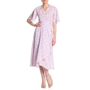 Bobeau lavender Orna Patterned Wrap Dress size 2x